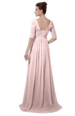 afe277f8741 ColsBM Emily Pastel Pink Casual A-line Sabrina Elbow Length Sleeve Backless  Beaded Bridesmaid Dresses