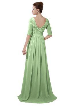 3976016baef2 ColsBM Emily Sage Green Casual A-line Sabrina Elbow Length Sleeve Backless  Beaded Bridesmaid Dresses