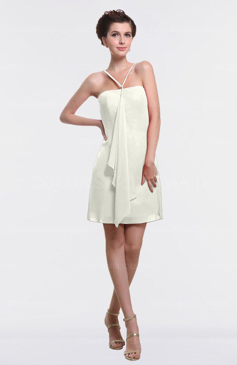196142c9376 ColsBM Aliya Ivory Informal Sheath Zipper Chiffon Mini Plainness Prom  Dresses