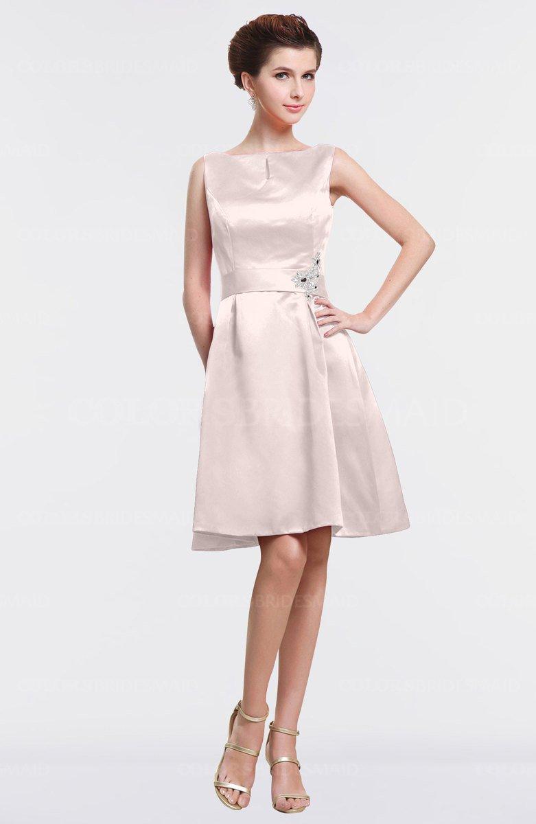 24fdb474c40e Blush Bridesmaid Dresses Knee Length - raveitsafe