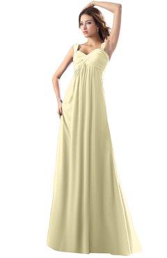 ColsBM Diana Anise Flower Modest Empire Thick Straps Zipper Floor Length Ruching Prom Dresses