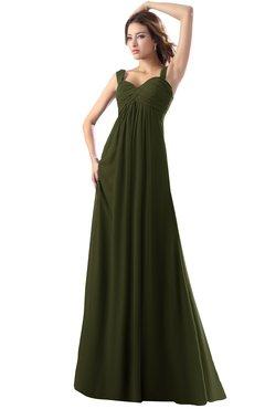 ColsBM Diana Beech Modest Empire Thick Straps Zipper Floor Length Ruching Prom Dresses