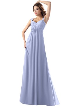 ColsBM Diana Blue Heron Modest Empire Thick Straps Zipper Floor Length Ruching Prom Dresses