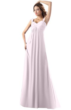 ColsBM Diana Blush Modest Empire Thick Straps Zipper Floor Length Ruching Prom Dresses