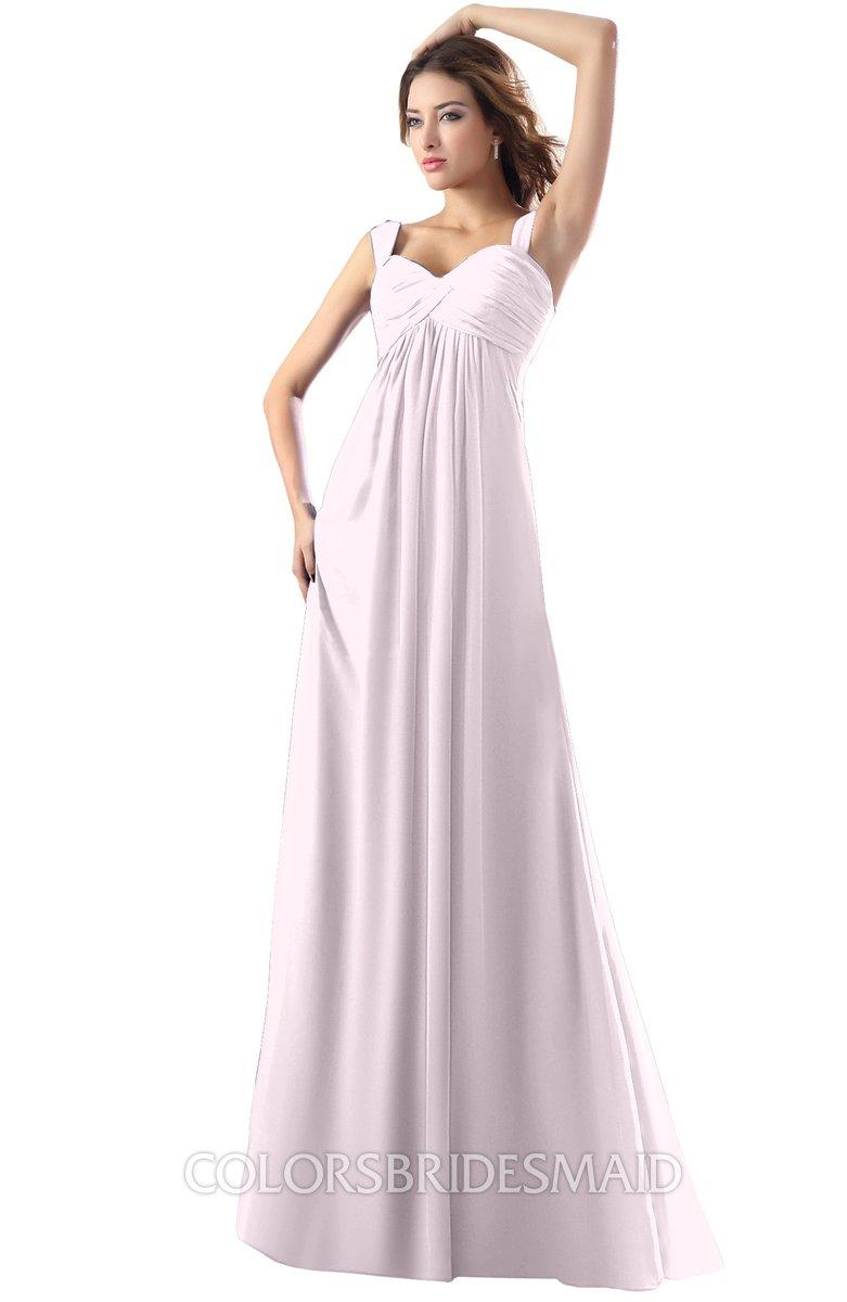 0eafd6a9515d ColsBM Diana Blush Modest Empire Thick Straps Zipper Floor Length Ruching  Prom Dresses