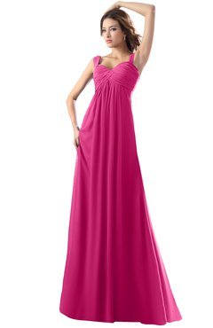 ColsBM Diana Cabaret Modest Empire Thick Straps Zipper Floor Length Ruching Prom Dresses