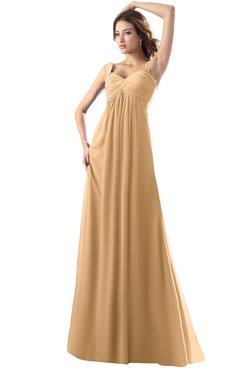 ColsBM Diana Desert Mist Modest Empire Thick Straps Zipper Floor Length Ruching Prom Dresses