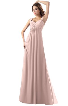 ColsBM Diana Dusty Rose Modest Empire Thick Straps Zipper Floor Length Ruching Prom Dresses