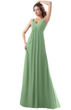 ColsBM Diana Fair Green Modest Empire Thick Straps Zipper Floor Length Ruching Prom Dresses