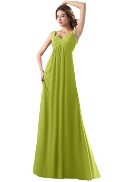 ColsBM Diana Green Oasis Modest Empire Thick Straps Zipper Floor Length Ruching Prom Dresses