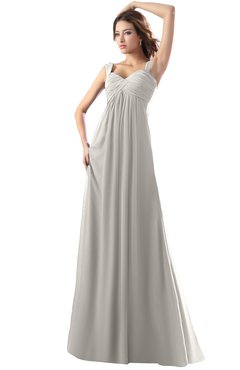 ColsBM Diana Hushed Violet Modest Empire Thick Straps Zipper Floor Length Ruching Prom Dresses