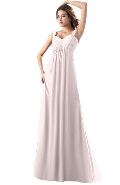ColsBM Diana Light Pink Modest Empire Thick Straps Zipper Floor Length Ruching Prom Dresses