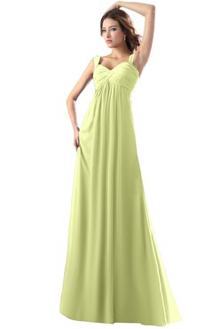 ColsBM Diana Lime Green Modest Empire Thick Straps Zipper Floor Length Ruching Prom Dresses