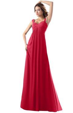ColsBM Diana Lollipop Modest Empire Thick Straps Zipper Floor Length Ruching Prom Dresses