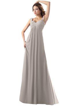 ColsBM Diana Mushroom Modest Empire Thick Straps Zipper Floor Length Ruching Prom Dresses