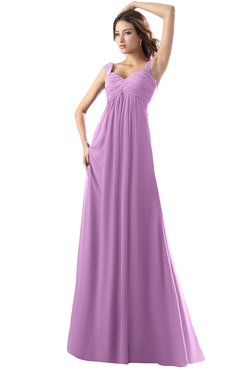 ColsBM Diana Orchid Modest Empire Thick Straps Zipper Floor Length Ruching Prom Dresses