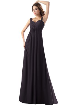 ColsBM Diana Perfect Plum Modest Empire Thick Straps Zipper Floor Length Ruching Prom Dresses