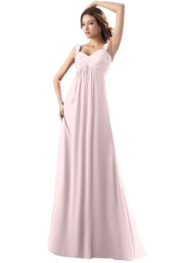 ColsBM Diana Petal Pink Modest Empire Thick Straps Zipper Floor Length Ruching Prom Dresses