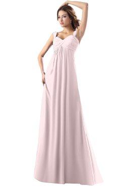 ColsBM Diana Petal Pink Modest Empire Thick Straps Zipper Floor Length Ruching Prom Dresses