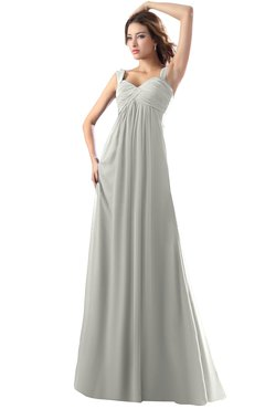 ColsBM Diana Platinum Modest Empire Thick Straps Zipper Floor Length Ruching Prom Dresses