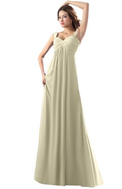 ColsBM Diana Putty Modest Empire Thick Straps Zipper Floor Length Ruching Prom Dresses