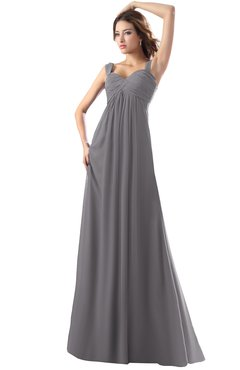 ColsBM Diana Storm Front Modest Empire Thick Straps Zipper Floor Length Ruching Prom Dresses