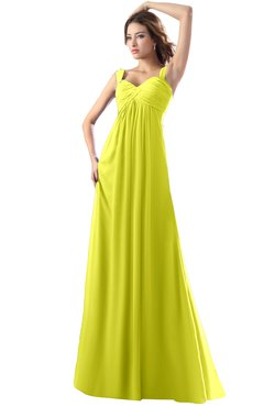 ColsBM Diana Sulphur Spring Modest Empire Thick Straps Zipper Floor Length Ruching Prom Dresses