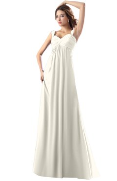 ColsBM Diana Whisper White Modest Empire Thick Straps Zipper Floor Length Ruching Prom Dresses