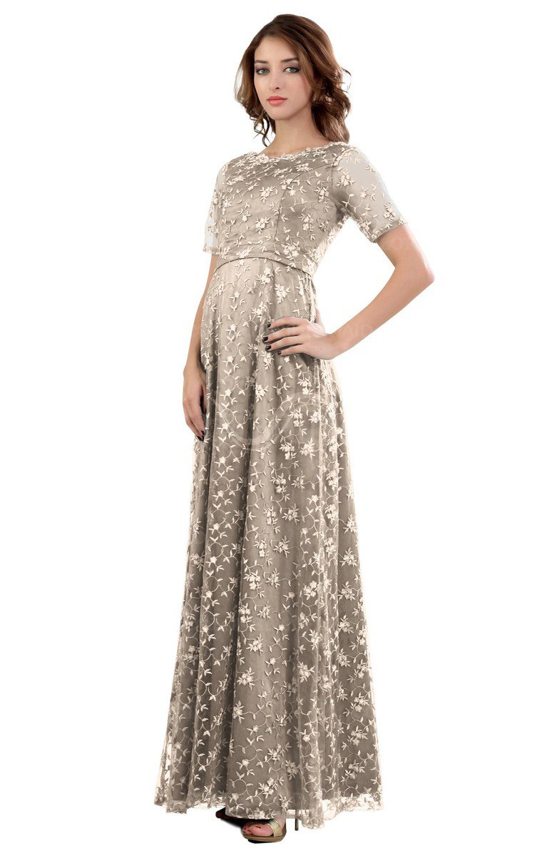 07930cbb0e colsbm megan silver peony gorgeous column scalloped edge short sleeve floor  length lace bridesmaid dresses.