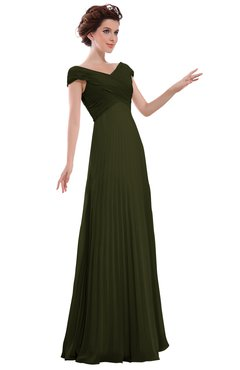 ColsBM Elise Beech Casual V-neck Zipper Chiffon Pleated Bridesmaid Dresses