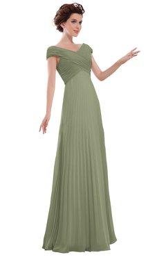 ColsBM Elise Bog Casual V-neck Zipper Chiffon Pleated Bridesmaid Dresses