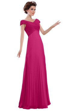 ColsBM Elise Cabaret Casual V-neck Zipper Chiffon Pleated Bridesmaid Dresses