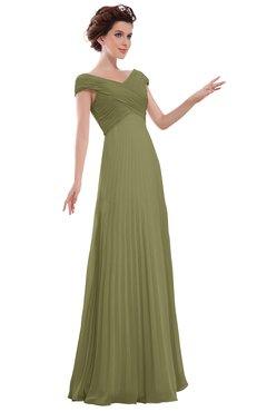ColsBM Elise Cedar Casual V-neck Zipper Chiffon Pleated Bridesmaid Dresses