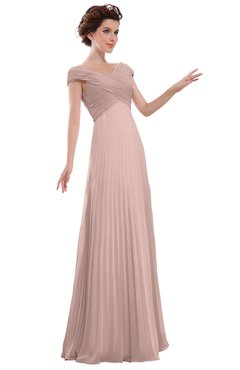 bc693255aed ColsBM Elise Dusty Rose Casual V-neck Zipper Chiffon Pleated Bridesmaid  Dresses