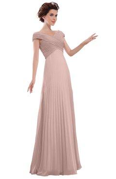ColsBM Elise Dusty Rose Casual V-neck Zipper Chiffon Pleated Bridesmaid Dresses