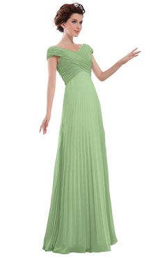 ColsBM Elise Gleam Casual V-neck Zipper Chiffon Pleated Bridesmaid Dresses