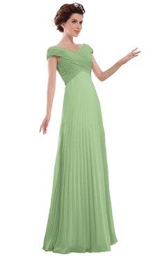 ColsBM Elise Gleam Casual V-neck Zipper Chiffon Pleated Bridesmaid Dresses
