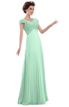 ColsBM Elise Honeydew Casual V-neck Zipper Chiffon Pleated Bridesmaid Dresses