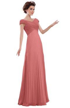ColsBM Elise Lantana Casual V-neck Zipper Chiffon Pleated Bridesmaid Dresses