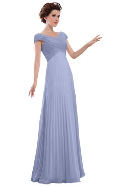 ColsBM Elise Lavender Casual V-neck Zipper Chiffon Pleated Bridesmaid Dresses