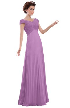 ColsBM Elise Orchid Casual V-neck Zipper Chiffon Pleated Bridesmaid Dresses