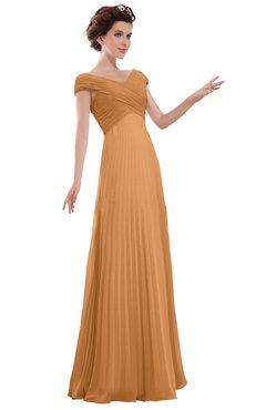 ColsBM Elise Pheasant Casual V-neck Zipper Chiffon Pleated Bridesmaid Dresses