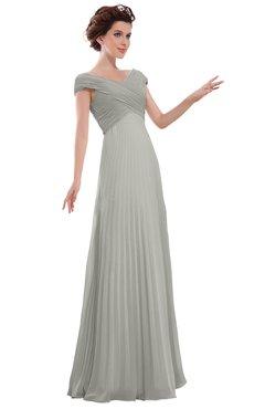 ColsBM Elise Platinum Casual V-neck Zipper Chiffon Pleated Bridesmaid Dresses