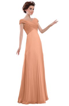 ColsBM Elise Salmon Casual V-neck Zipper Chiffon Pleated Bridesmaid Dresses