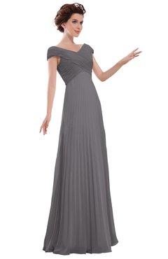ColsBM Elise Storm Front Casual V-neck Zipper Chiffon Pleated Bridesmaid Dresses