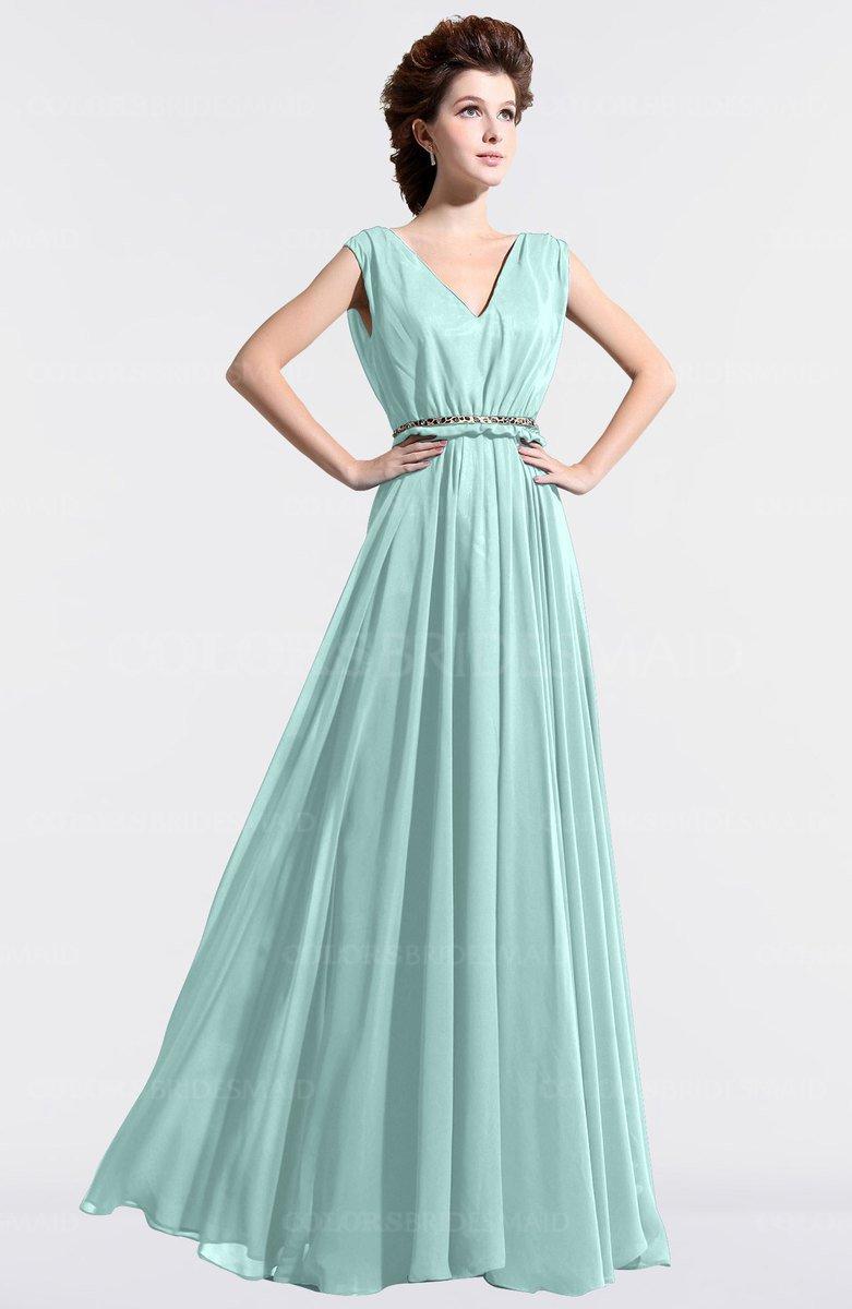 ColsBM Cordelia Blue Glass Bridesmaid Dresses - ColorsBridesmaid