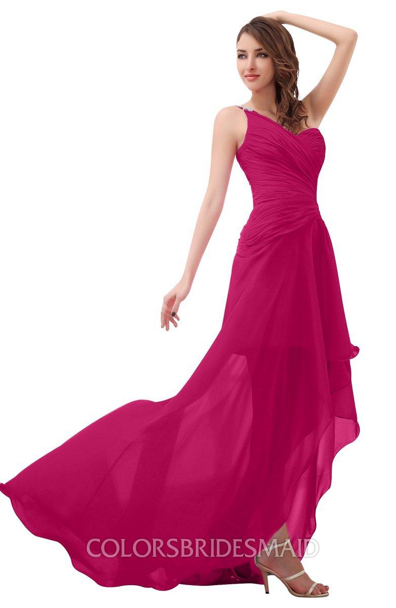 ColsBM Paige Beetroot Purple Bridesmaid Dresses - ColorsBridesmaid