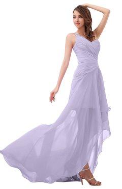 d28b025c12b45 ColsBM Paige Light Purple Romantic One Shoulder Sleeveless Brush Train  Ruching Bridesmaid Dresses