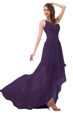 47a6301a3254a ColsBM Paige Violet Romantic One Shoulder Sleeveless Brush Train Ruching  Bridesmaid Dresses