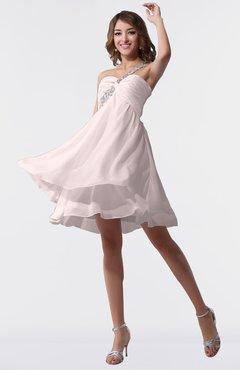 e3d4feeda20aa ColsBM Estelle Light Pink Modest A-line One Shoulder Criss-cross Straps  Short Ruching